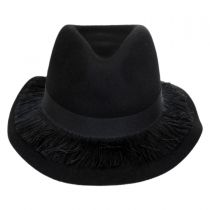 Stockholm Fringe Wool Felt Floppy Fedora Hat in