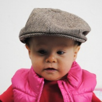 Baby Herringbone Wool Blend Newsboy Cap alternate view 2
