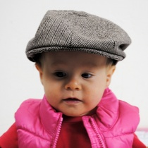 Baby Herringbone Wool Blend Newsboy Cap alternate view 14