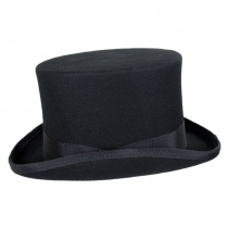 Mid Crown Wool Felt Top Hat alternate view 3