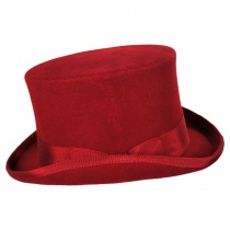 Mid Crown Wool Felt Top Hat alternate view 14