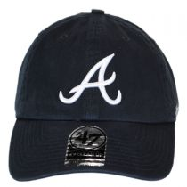 Atlanta Braves MLB Clean Up Strapback Baseball Cap Dad Hat in