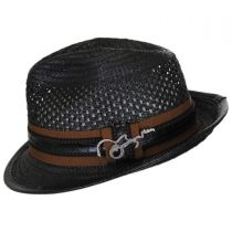 Mohican Toyo Straw Trilby Fedora Hat alternate view 3
