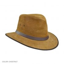 Nubuck Leather Safari Fedora Hat in