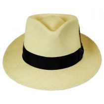 Stain Repellent Panama Straw C-Crown Fedora Hat in