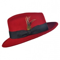 Pachuco Crushable Wool Felt Fedora Hat in