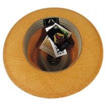 Stain Repellent Panama Straw C-Crown Fedora Hat