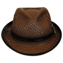 Mohican Toyo Straw Trilby Fedora Hat alternate view 6