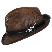 Mohican Toyo Straw Trilby Fedora Hat alternate view 7