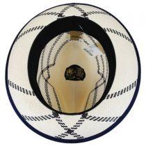 Rialto Shantung Straw Trilby Fedora Hat in
