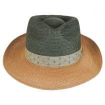 Valencia Two-Tone Hemp Straw Fedora Hat alternate view 10