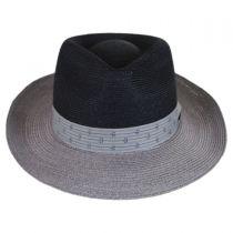 Valencia Two-Tone Hemp Straw Fedora Hat alternate view 2