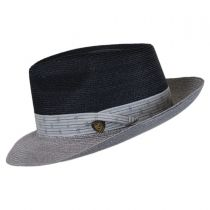 Valencia Two-Tone Hemp Straw Fedora Hat in