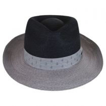 Valencia Two-Tone Hemp Straw Fedora Hat alternate view 14