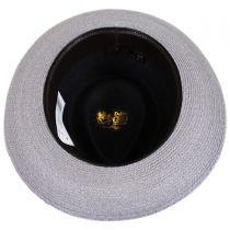 Valencia Two-Tone Hemp Straw Fedora Hat alternate view 16