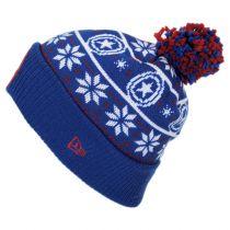 Marvel Comics Cap America Winter Knit Beanie Hat alternate view 2