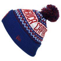 Marvel Comics Cap America Sweater Knit Beanie Hat in