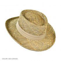 Pebble Beach Seagrass Straw Gambler Hat