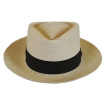 Track Day Hemp Straw Diamond Crown Fedora Hat in