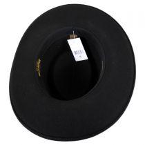Western Wool Felt Gambler Hat in