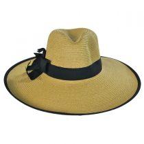 Toyo Straw Wide Brim Fedora Hat in
