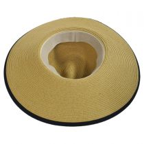 Toyo Straw Wide Brim Fedora Hat