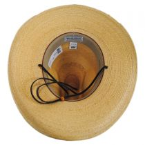 Bryce Palm Leaf Straw Wide Brim Gus Hat in