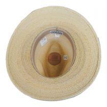 Banyon Palm Leaf Straw Safari Fedora Hat in