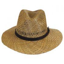 Childress Vent Seagrass Straw Safari Fedora Hat alternate view 6
