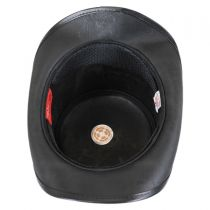 Pinster Vented Leather Top Hat in