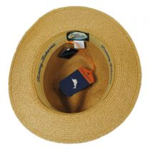 Leather Band Toyo Straw Safari Fedora Hat in