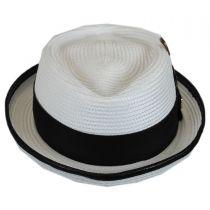 Croc Trim Diamond Crown Fedora Hat in