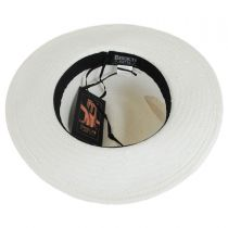 Isabel Embroidered Toyo Straw Fedora Hat in
