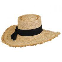 Cristobel Frayed Raffia Straw Boater Hat