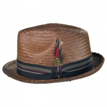 Tribeca Toyo Straw Trilby Fedora Hat alternate view 10