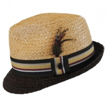 Trinidad Raffia Straw Trilby Fedora Hat alternate view 3
