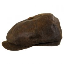 Leather Newsboy Cap in