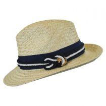 Nautical Palm Straw Fedora Hat in