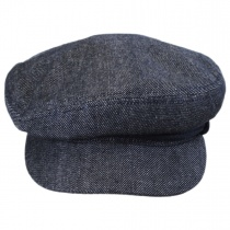 Cotton and Linen Fiddler Cap in