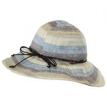 Three-Tone Ribbon Sun Hat in