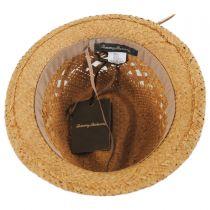 Tassels Raffia Straw Trilby Fedora Hat in