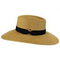 Toyo Straw Wide Brim Planter Hat in