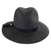 Ribbon Band Toyo Straw Fedora Hat alternate view 2