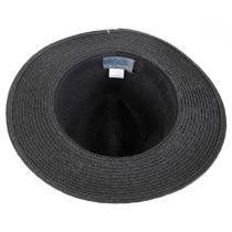Ribbon Band Toyo Straw Fedora Hat alternate view 4