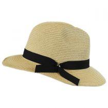Ribbon Band Toyo Straw Fedora Hat in