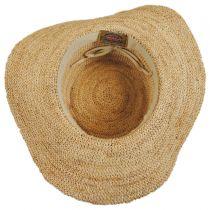 Organic Raffia Straw Floppy Planter Hat in