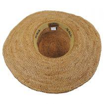 Organic Raffia Straw Wide Brim Boater Hat in