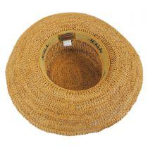 Side Bow Organic Raffia Straw Boater Hat