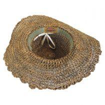 Scallop Brim Seagrass Straw Swinger Hat in