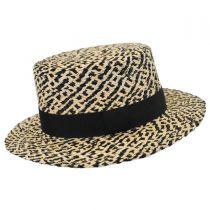 Autumn Raffia Straw Boater Hat in
